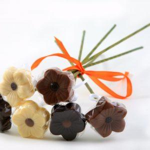 פרחי שוקולד